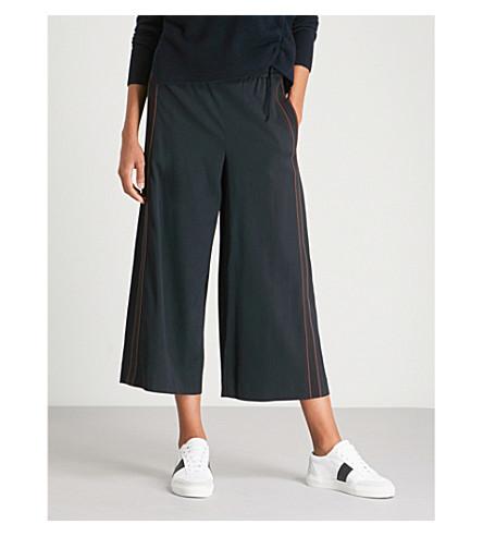 VINCE 侧条纹绉裙裤 (沿海