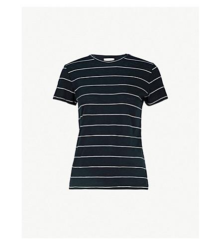 VINCE条纹棉衫衫 (沿海/香草