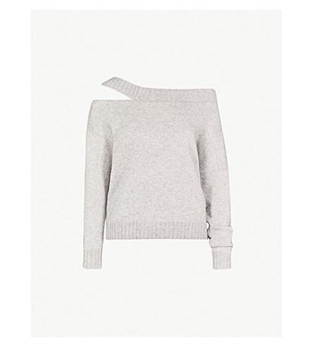 VINCE 肩羊毛和羊绒混纺毛衣 (灰色