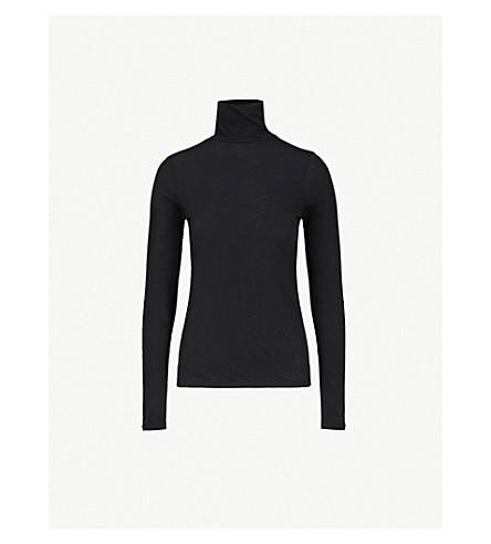 VINCE Turtleneck cotton-jersey top (Black