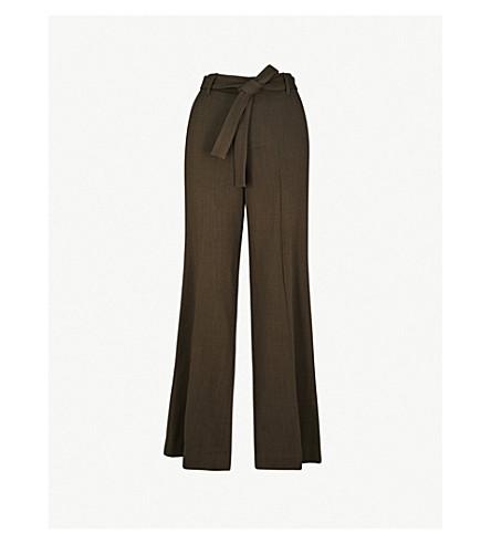 VINCE 休闲版型直拉羊毛裤子 (深月桂