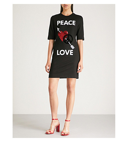 MOSCHINO LOVE jersey MOSCHINO Love Peace shirt LOVE dress T Black OEggdq