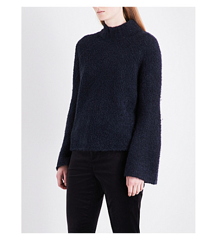 ULLA JOHNSON Amina turtleneck wool and cashmere-blend jumper (Midnight
