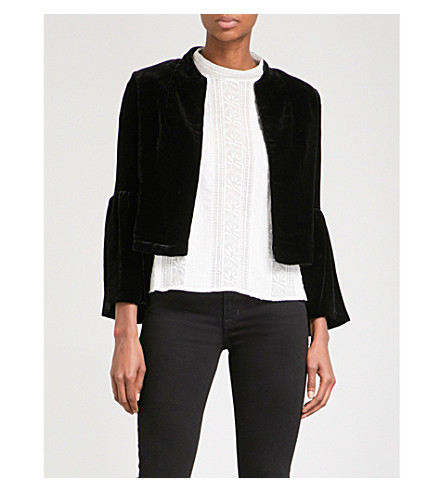 ULLA JOHNSON Mara velvet jacket (Noir