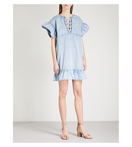 ULLA JOHNSON Marianne denim mini dress (Cornflower