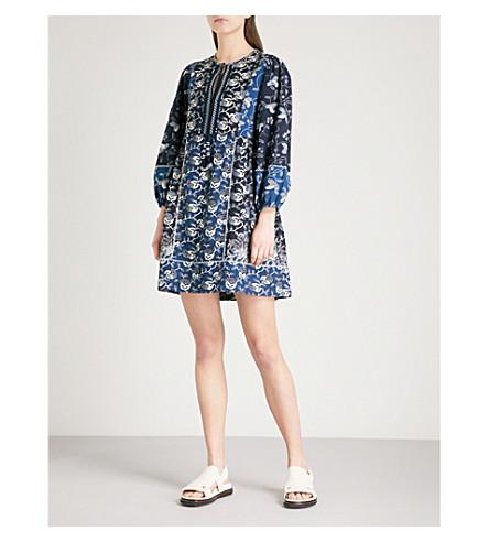 ULLA JOHNSON Gemi cotton-blend mini dress (Indigo