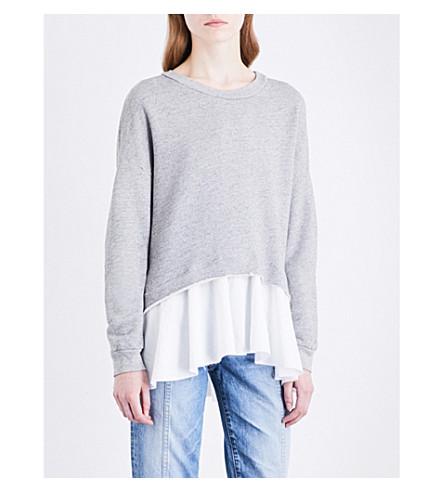 NSF Ember cotton-jersey sweatshirt (Charcoal+heather/white