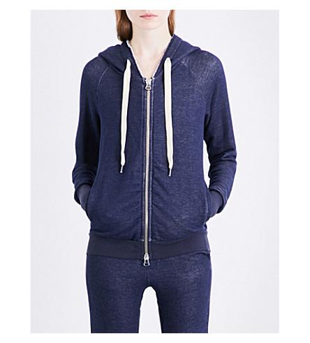 NSF Roxie cotton-jersey hoody (Navy