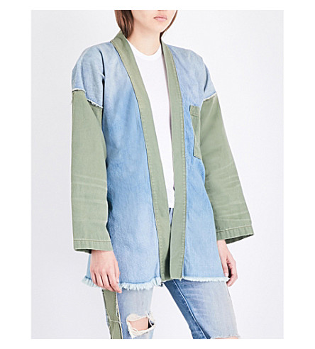 NSF Marley denim kimono jacket (Harbor