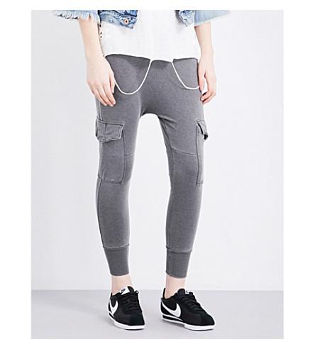 NSF Ellie mid-rise jersey jogging bottoms (Pigment black