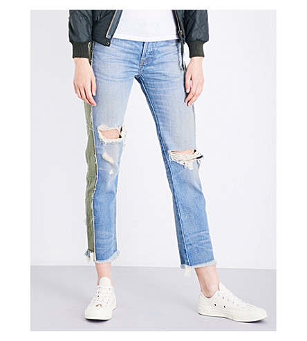 NSF Maggie straight mid-rise jeans (Harbor