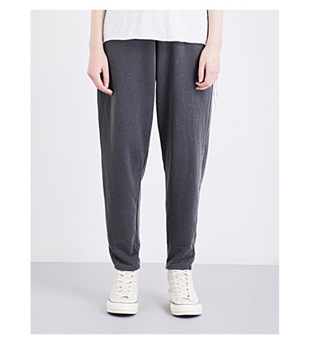NSF Yana relaxed-fit high-rise cotton-jersey jogging bottoms (Pigment+black