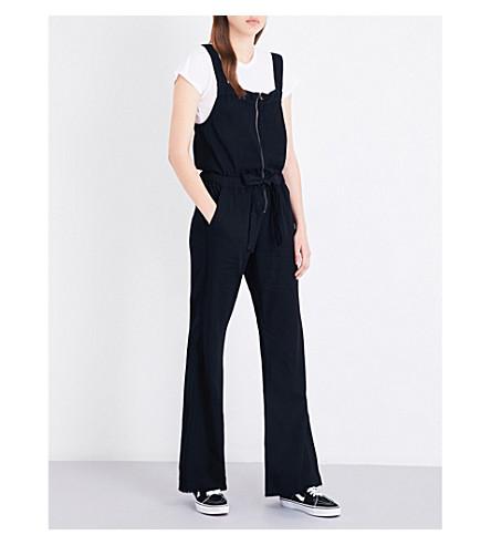 NSF Bailey cotton jumpsuit (Od+black