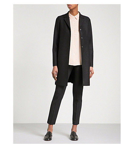 HARRIS WHARF LONDON Single-breasted wool coat (Black+199