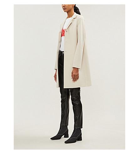 HARRIS WHARF LONDON Single-breasted wool coat (Cream