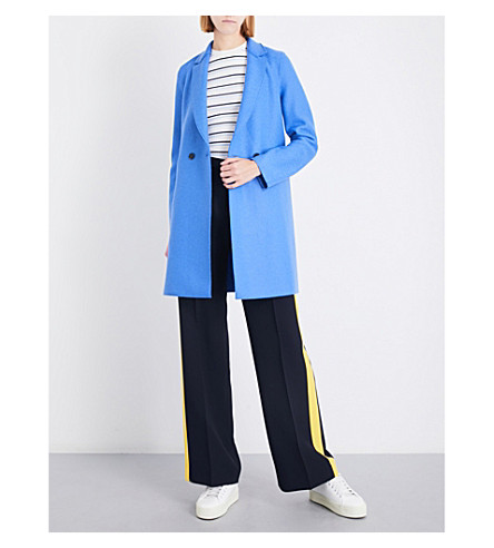 HARRIS WHARF LONDON Double-breasted wool coat (Cerulean
