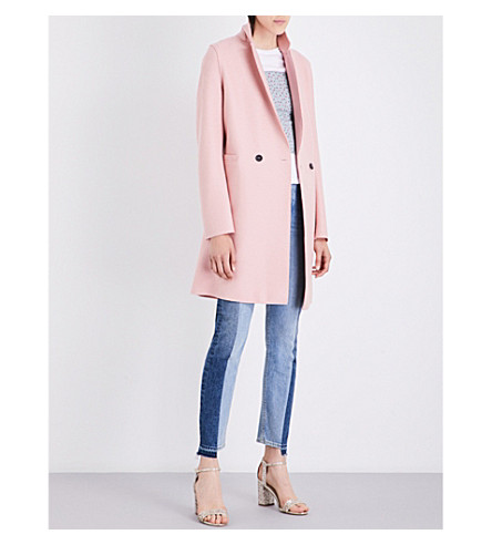 HARRIS WHARF LONDON Double-breasted wool coat (Pastel pink
