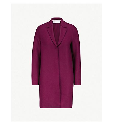 HARRIS WHARF LONDON Cocoon pressed-wool coat (Bougainville
