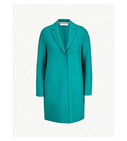 HARRIS WHARF LONDON Cocoon wool coat (Evergreen