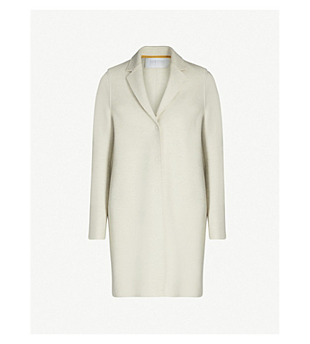 HARRIS WHARF LONDON Single-breasted wool cocoon coat (Ecru