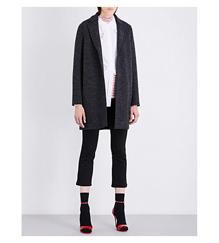 HARRIS WHARF LONDON Cocoon wool coat (Anthracite