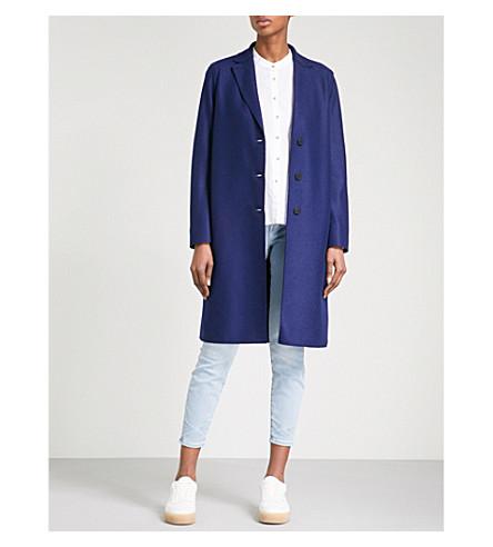 HARRIS WHARF LONDON Single-breasted wool coat (Ink+356