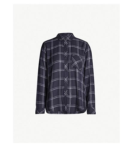 RAILS Hunter metallic checked flannel shirt (Navy snow