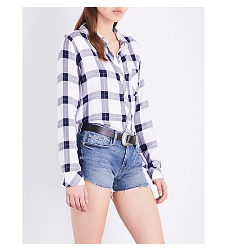 RAILS Hunter checked woven shirt (Midnight/sky/white