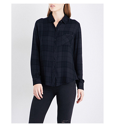 RAILS Hunter checked flannel shirt (Onyx+/+jet