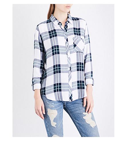 RAILS Hunter checked flannel shirt (White+admiral+alpine