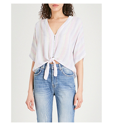 RAILS Thea Isla linen-blend shirt (Isla+stripe