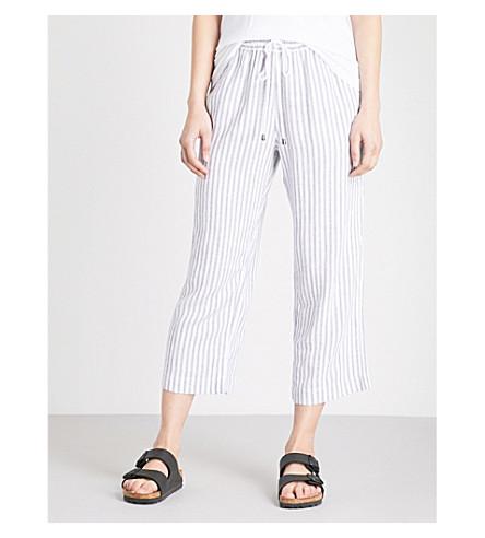 RAILS Agnes wide-leg striped woven trousers (Canela+stripe