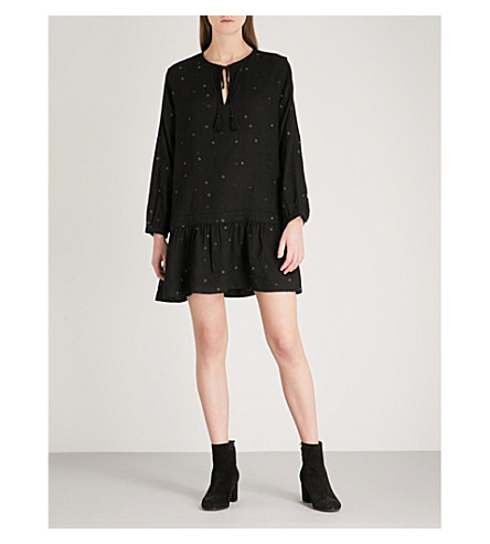 RAILS Lydia woven mini dress (Black+with+stars