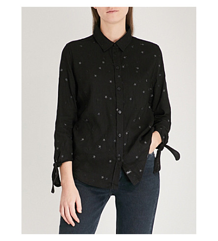RAILS Robyn woven shirt (Black+with+stars