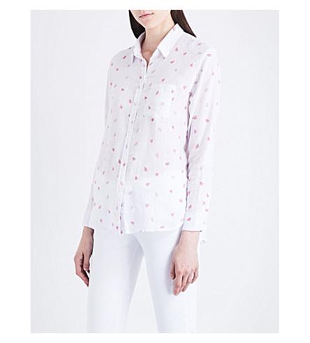 RAILS Charli watermelon-print linen-blend shirt (Watermelon+print