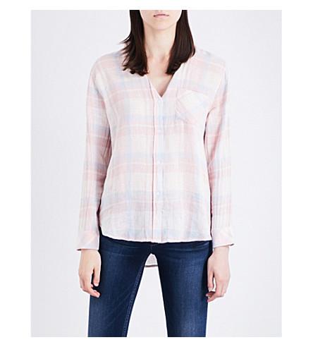 RAILS Charli check-print linen-blend shirt (Verona+plaid