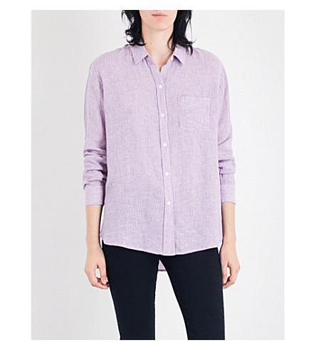 RAILS Charli striped linen-blend shirt (Rhodes+stripe