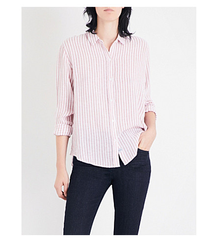 RAILS Sydney striped linen-blend shirt (Florence+stripe