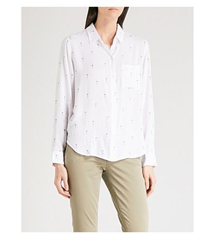 RAILS Rocsi martini-patterned poplin shirt (Martinis