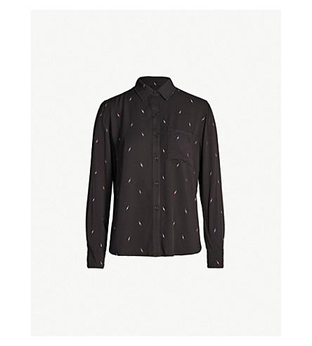 RAILS Rocsi lightning-print twill shirt (Black multi lightning