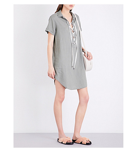 RAILS Rocky linen-blend dress (Sage