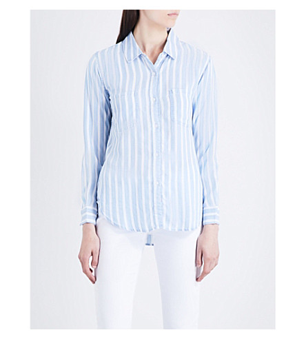 RAILS Carter striped woven shirt (Hampshire+stripe