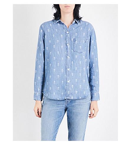 RAILS Ingrid pineapple-print denim shirt (Pineapple