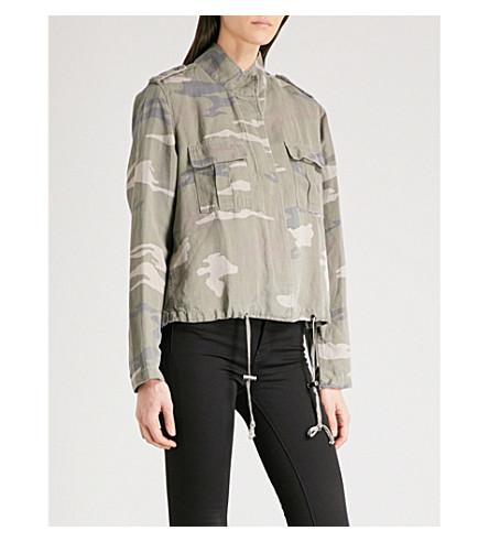RAILS Maverick camouflage-print twill jacket (Sage+camo