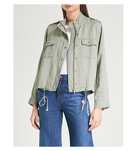 RAILS Collins woven military jacket (Sage