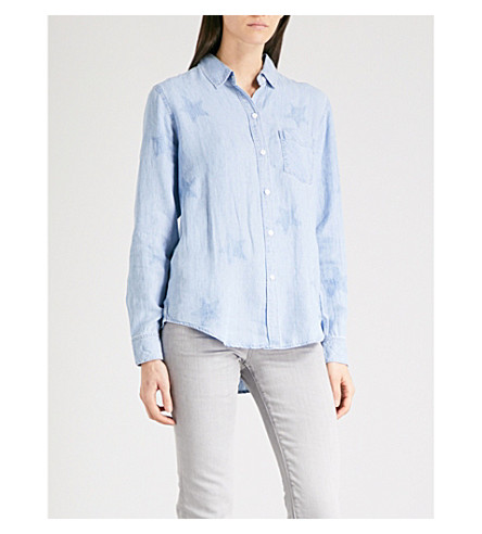 RAILS Ingrid star-embroidered chambray shirt (Medium+vintage+w+studs