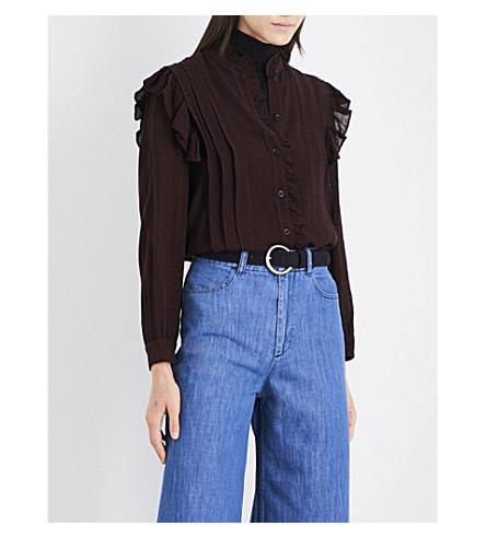 MASSCOB Ruffled gauze blouse (Bordeaux+23198