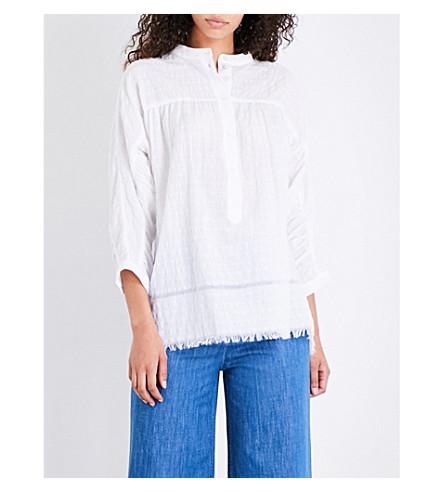 MASSCOB Textured cotton-poplin shirt (White