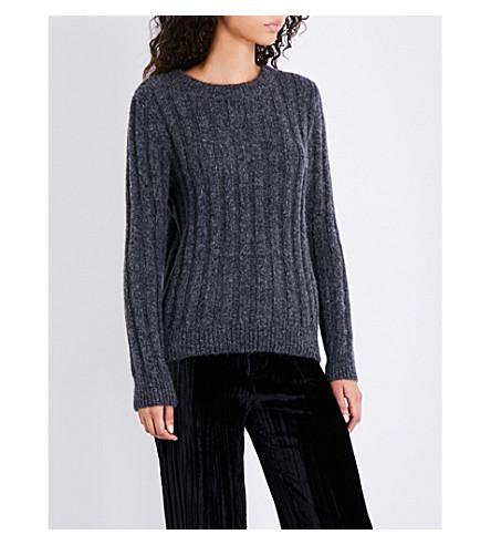 MASSCOB Ribbed alpaca-blend jumper (Dark+grey+23461