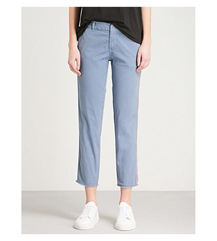 NILI LOTAN East Hampton slim-fit skinny mid-rise denim jeans (Washed+blue